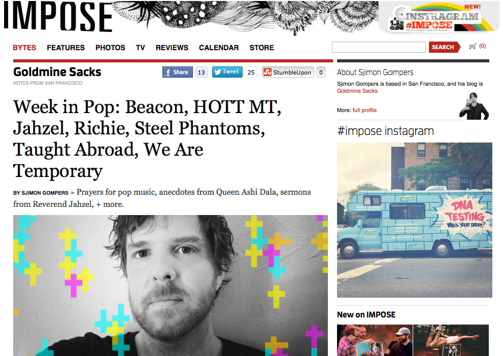 We Are Temporary featured in Impose Magazine