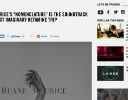 Ruane Maurice premieres debut single 'Nomenclature' via VICE / Noisey