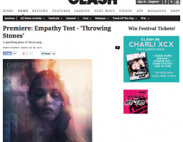 "Empathy Test debut new single ""Throwing Stones"" on CLASH Music"