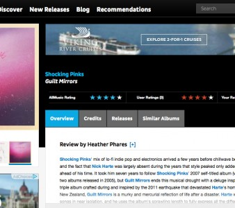 All Music Guide review gives new Shocking Pinks record 4 out 5 stars
