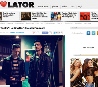 SPIN's Idolator blog premieres new Empathy Test single 'Holding On'