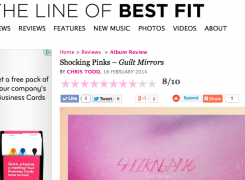 "The Line of Best Fit gives ""Guilt Mirrors"" an 8 out of 10!"